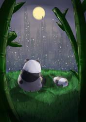 moonlight panda by chiruruzuhenu