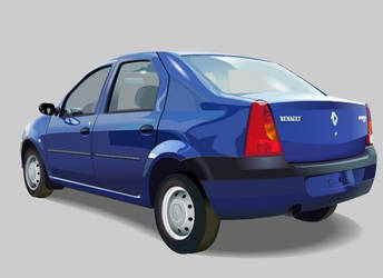 Renault Logan (back) by shatos