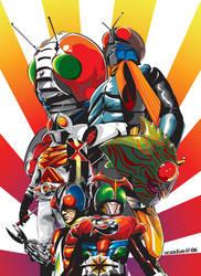 kamen rider full poster by seanlon