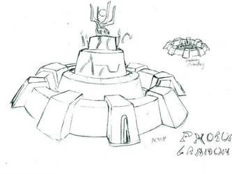 Starcraft: Photon Cannon Cake by CrabTasterMan