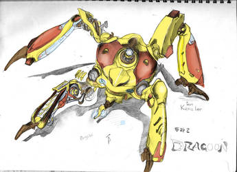 Red + Yellow Funky Dragoon by CrabTasterMan