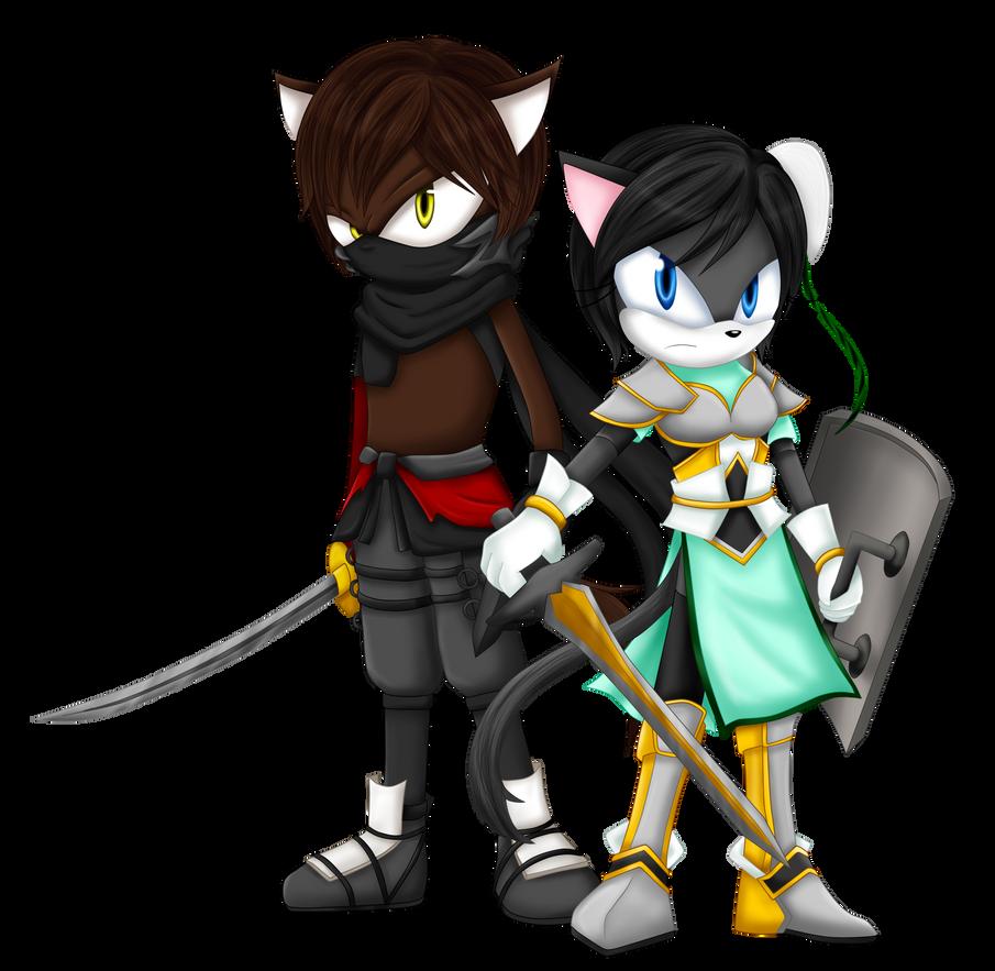 AT : Ryu and XingCai [Sonic forms] by Violet-Tarita