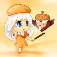 CookieRun : Acorn Owl by Violet-Tarita