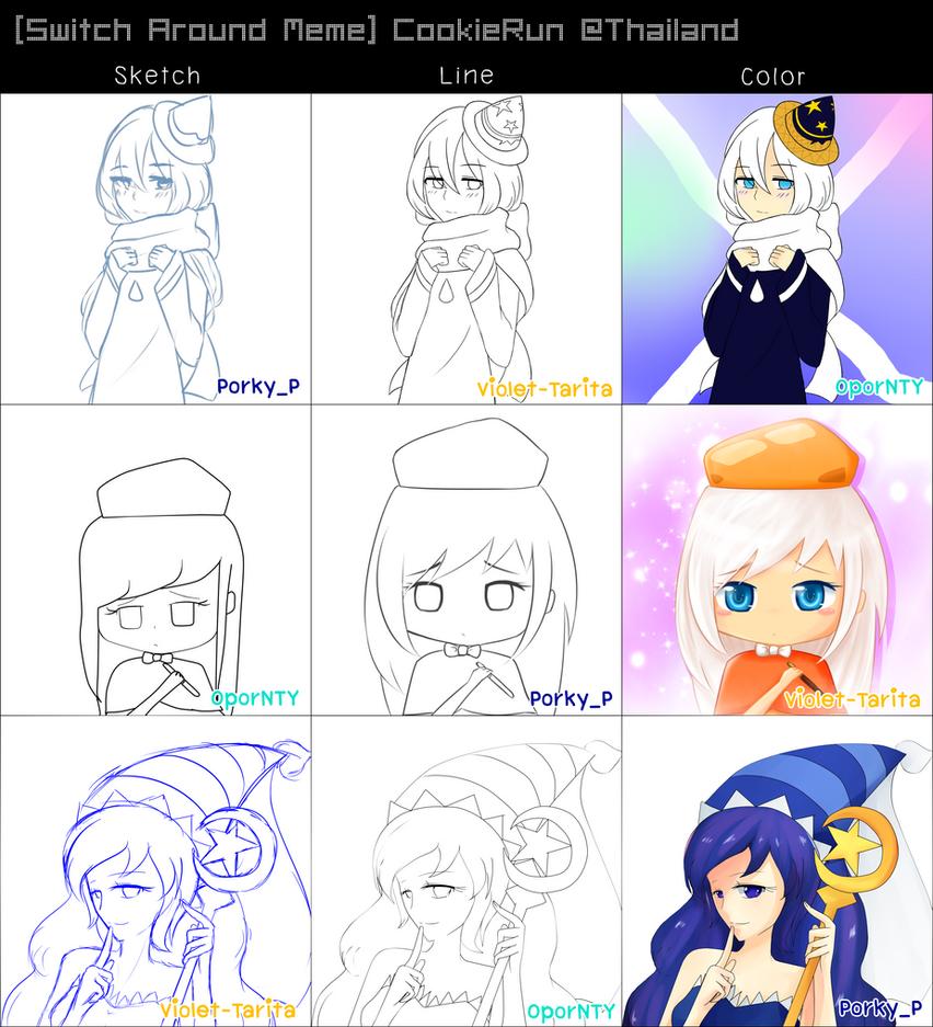 [Switch Around Meme] CookieRun Magician by Violet-Tarita