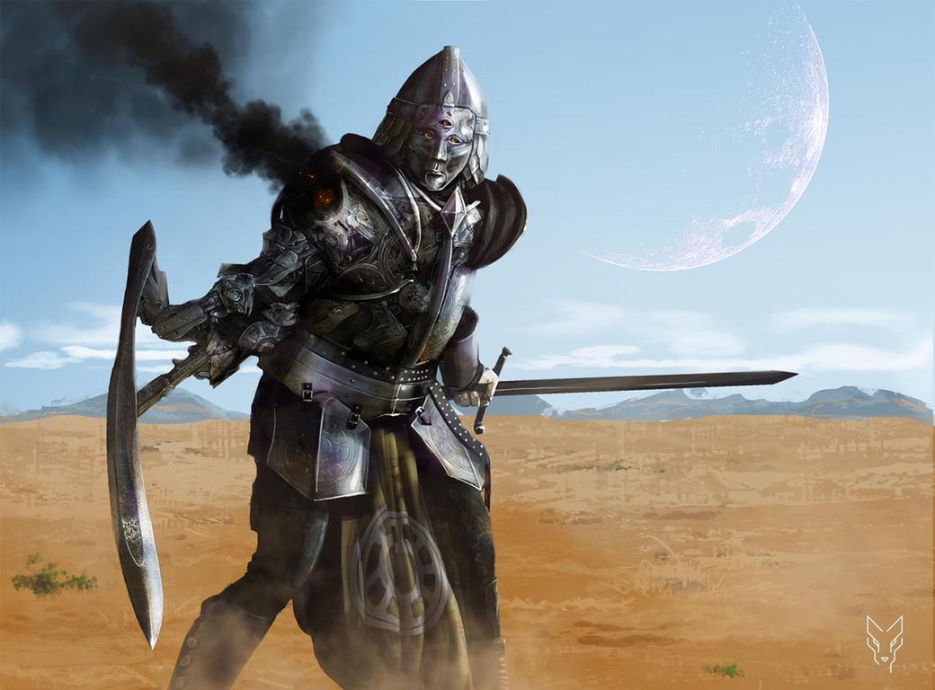 The Knight by RabidBlackDog