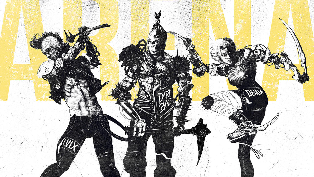 Battle Arena - Cyberpunk Gladiators 2 by RabidBlackDog