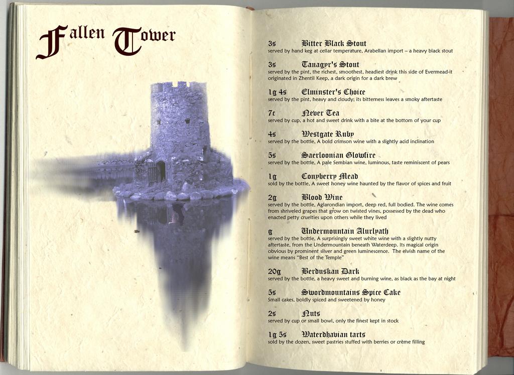 Fallen Tower Menu by Zara-Arletis