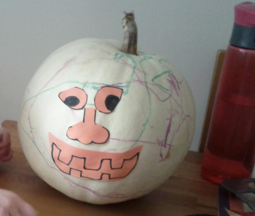 Halloween Crafts with my Son - Pumpkin Side 1 by M-J-Gagne