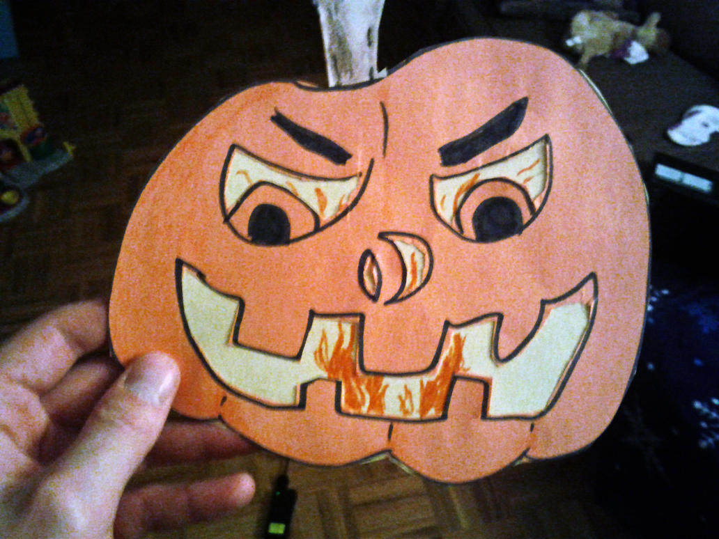 Random Halloween Craft - Basic Paper Pumpkin by M-J-Gagne