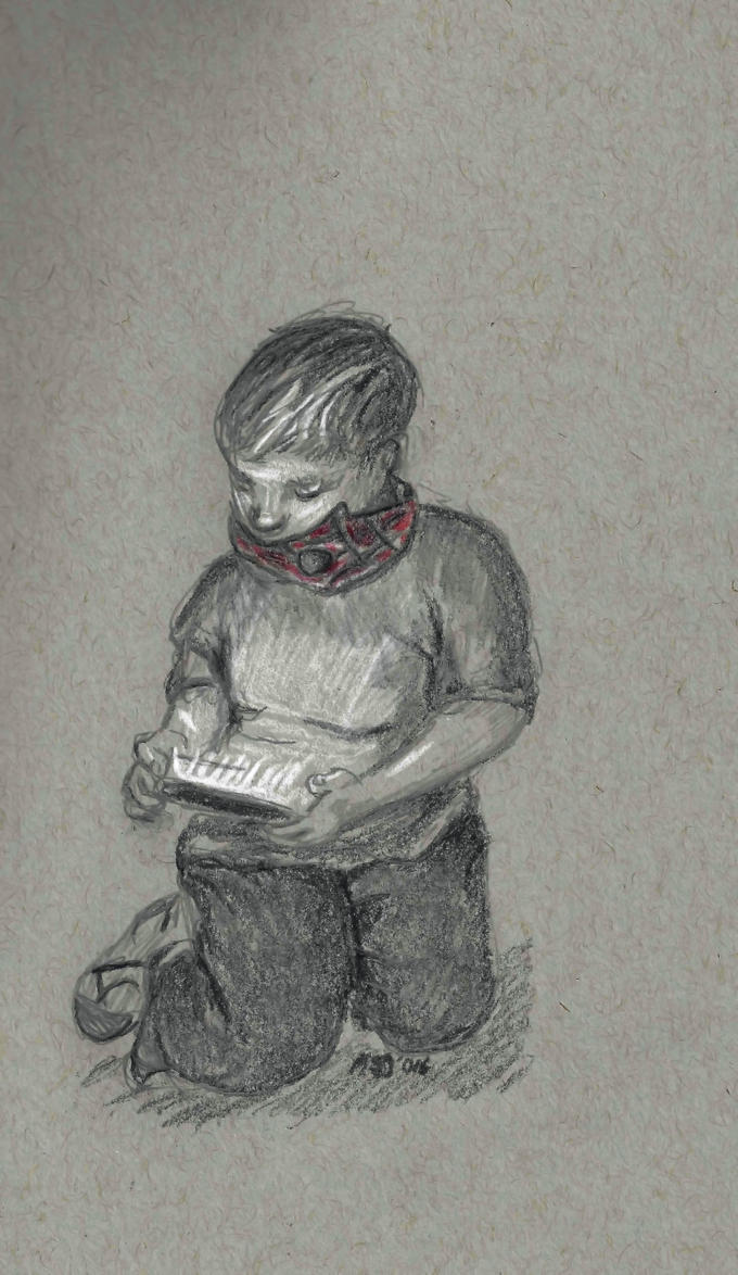 Gaming Boy by M-J-Gagne
