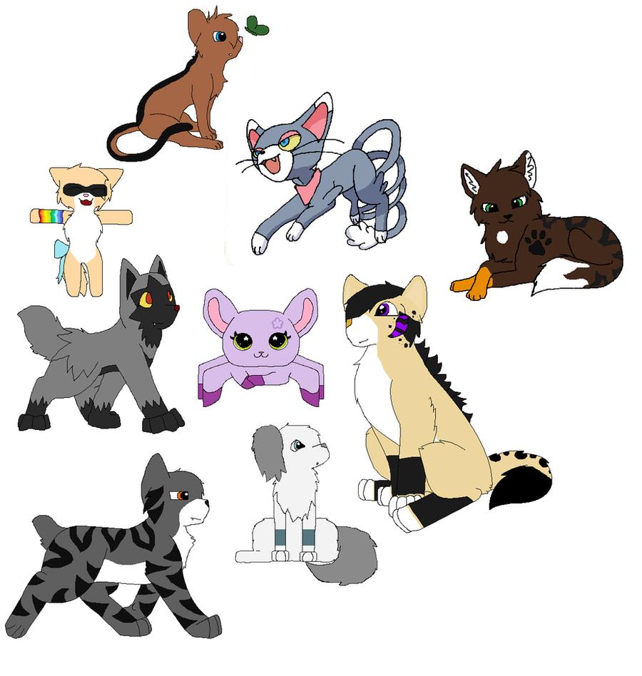 All My Characters by 0HoshiKuzu0