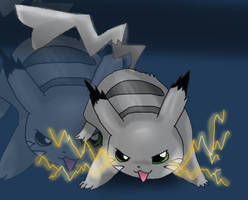 the sliver pikachu by PlushPaws