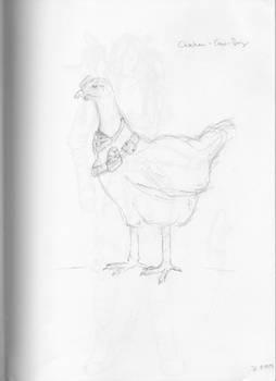 Chicken cow boy