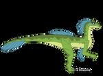 Delta the Velociraptor (full-body) by IreneRoxanne666