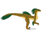 Echo the Velociraptor (full-body) by IreneRoxanne666