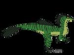 Charlie the Velociraptor (full-body) by IreneRoxanne666