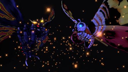 [SFM] Mothra and Battra by IreneRoxanne666