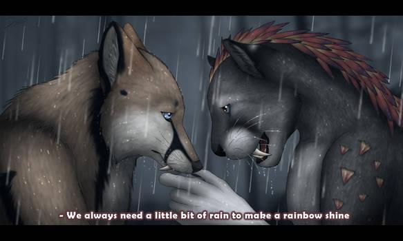 Make a rainbow shine