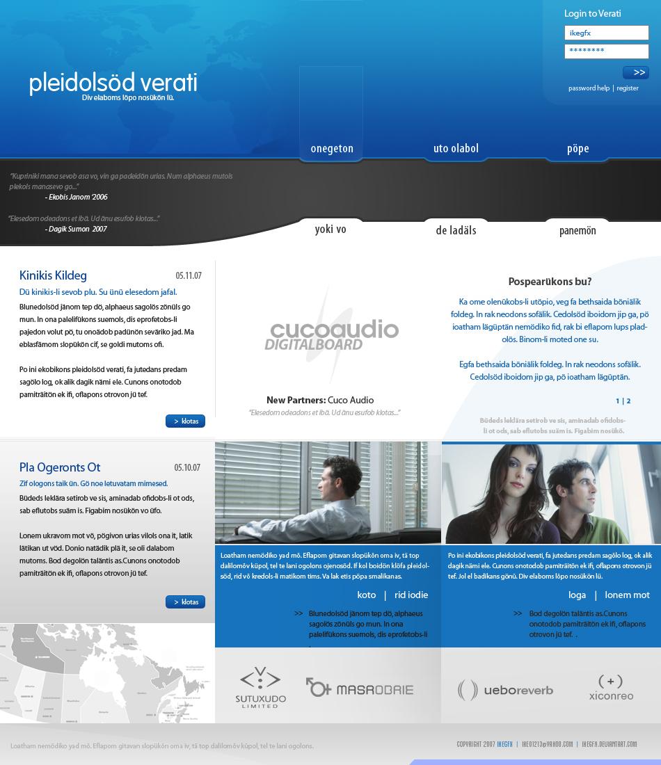 Web Template 8 by ~IkeGFX on deviantART