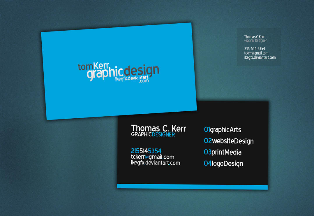 Business Card by IkeGFX on DeviantArt