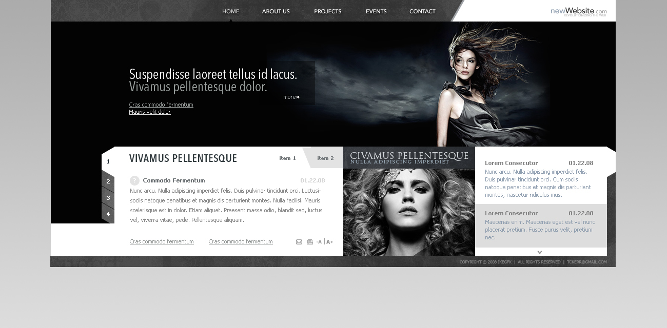 A fashion website - Fashion Website By Ikegfx Fashion Website By Ikegfx