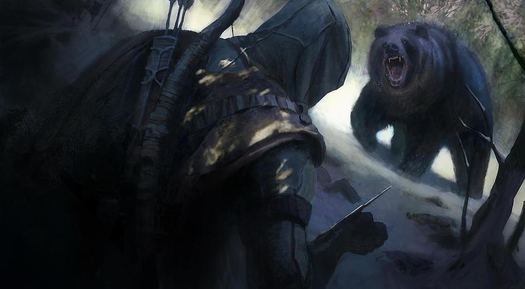 Bear attack by gillesbeloeil