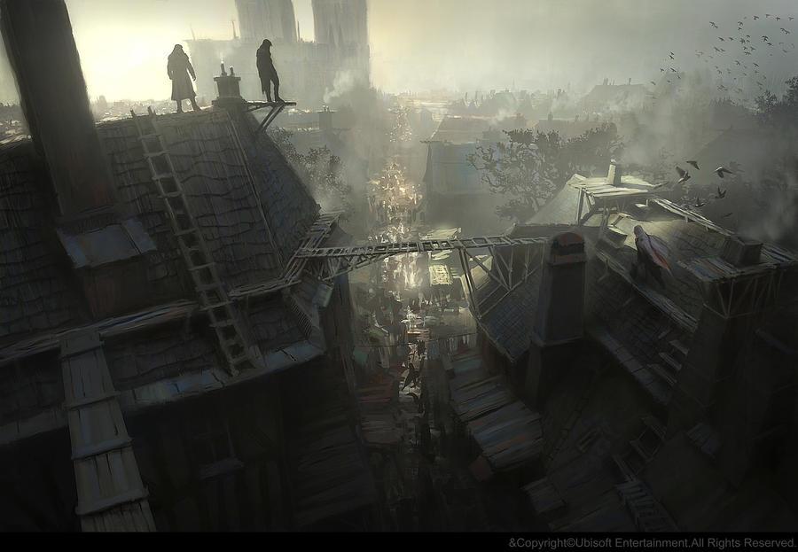 Running on the rooftops. by gillesbeloeil