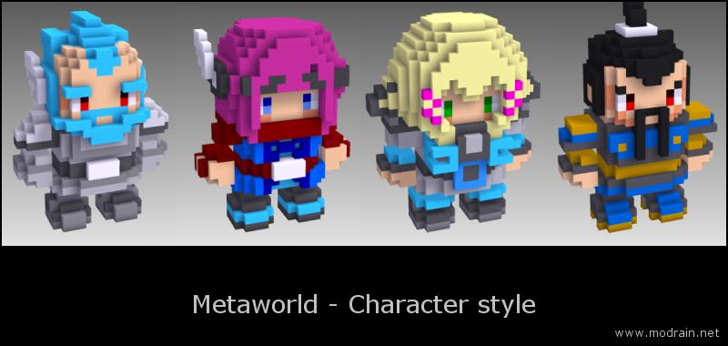 Metaworld Voxel Characters by Modrain