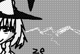 ze- monochrome touhou by rosenknospeo