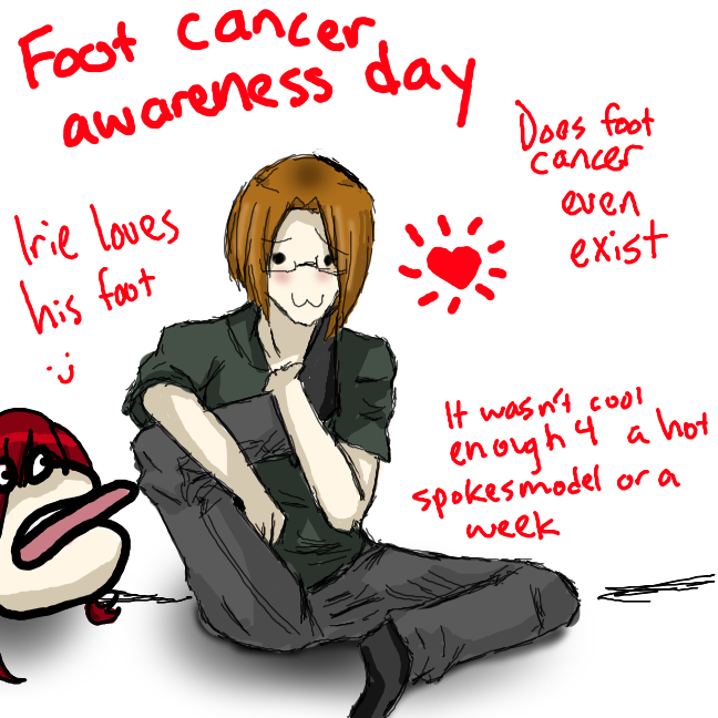 Foot cancer awareness by rosenknospeo