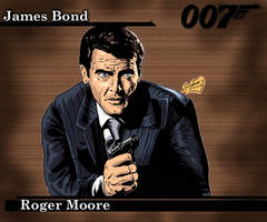 James Bond - Roger Moore by Lannytorres