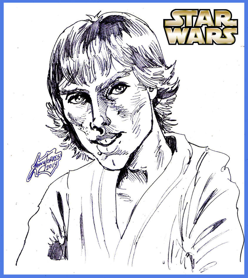 Star Wars - Luke Skywalker by Lannytorres