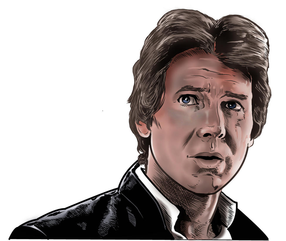 Han Solo -then and now WIP by Lannytorres
