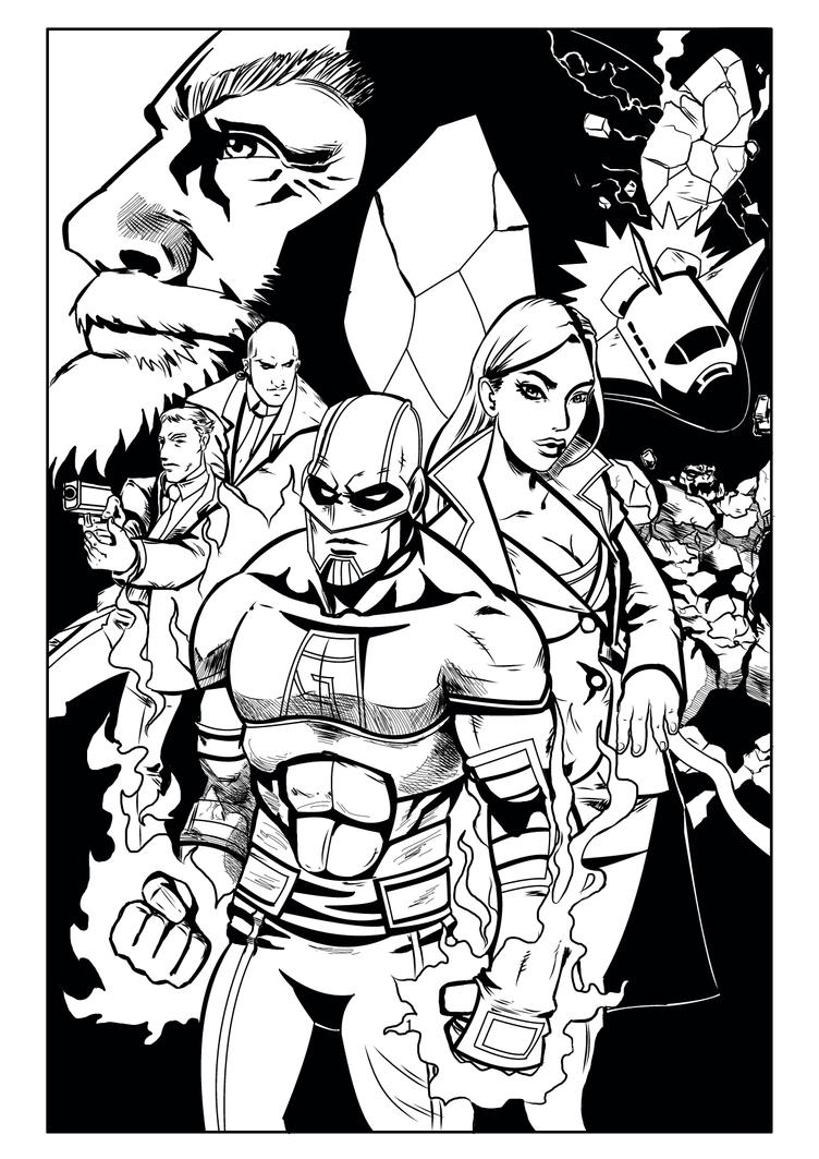 Alpha #2 cover inks by Lannytorres