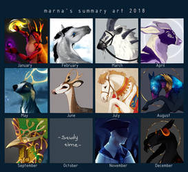2018 summary of art by marnah