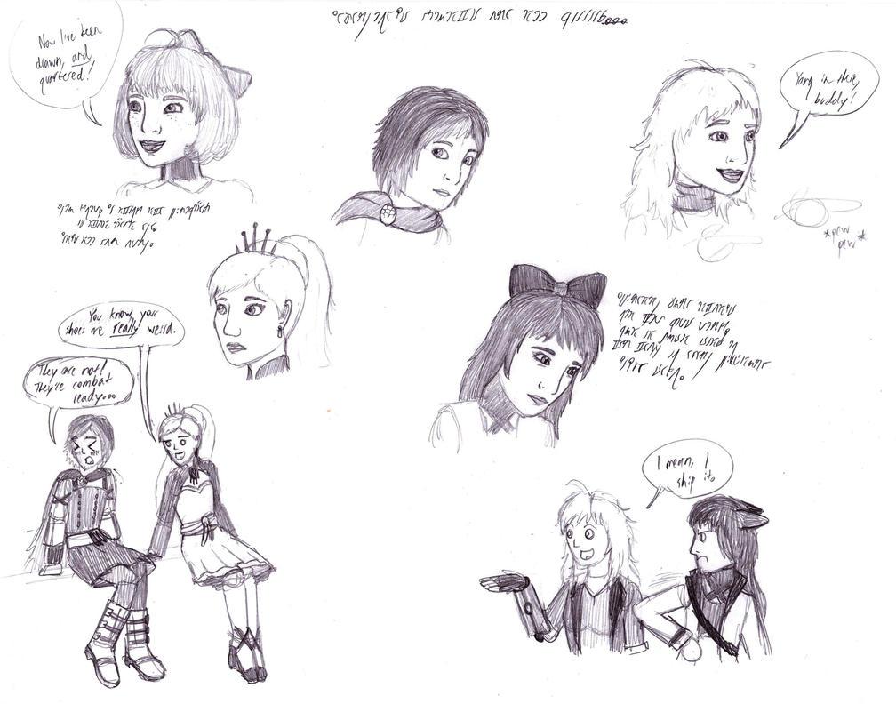 RWBY sketches by SVETAM