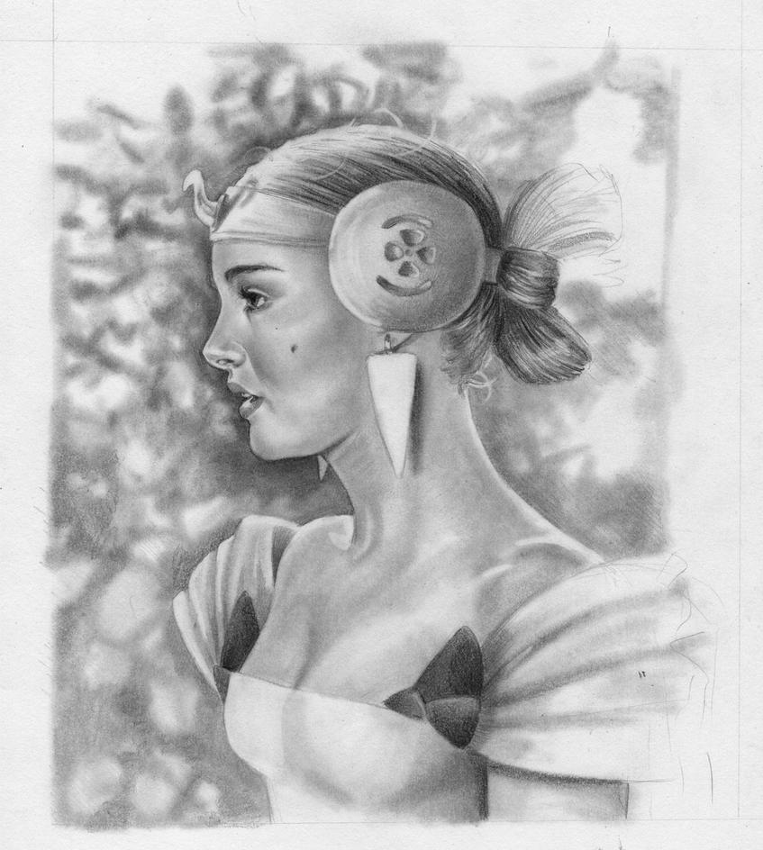 Padme Amidala WIP Concept Art by AngelinaBenedetti