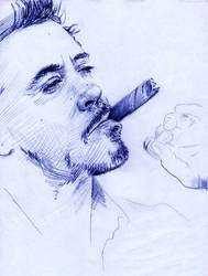 Robert Downey Jr. Ballpoint Pen WIP 1