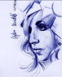 LADY GAGA Sketch Card