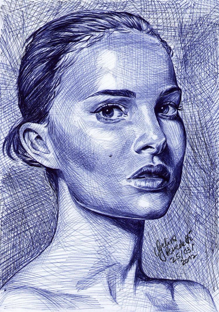 Natalie Portman Ballpoint Pen by AngelinaBenedetti