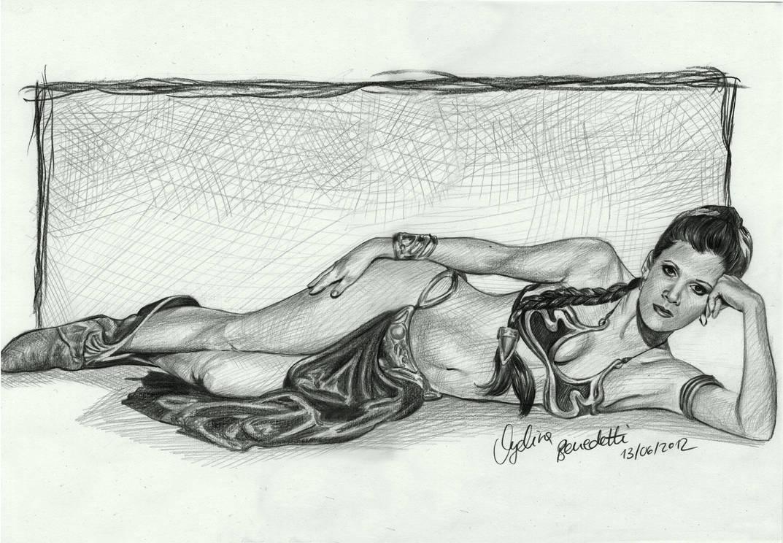 Princess Leia Slave Bikini Drawing
