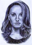 Natalie Portman Ballpoint Pen Portrait