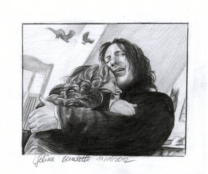 Snape and Lily Drawing `I hold you...` by AngelinaBenedetti