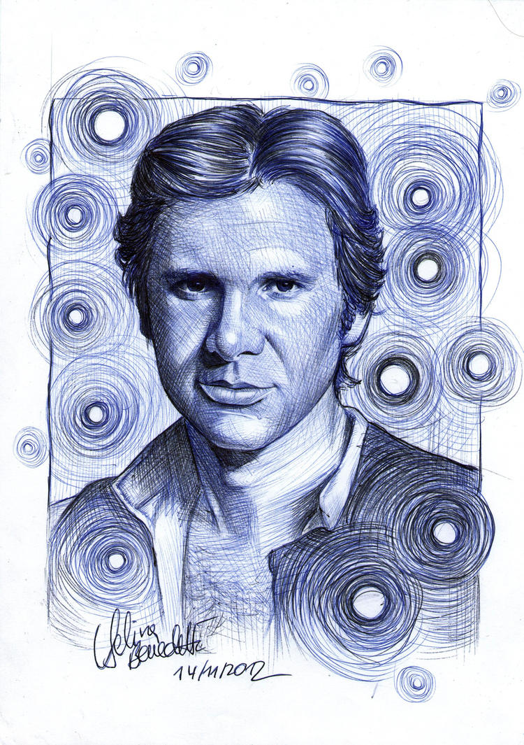 Han Solo Ballpoint Pen by AngelinaBenedetti