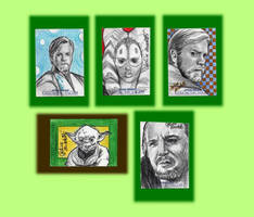 Star Wars Galactic Files Sketch Cards 'Good side' by AngelinaBenedetti