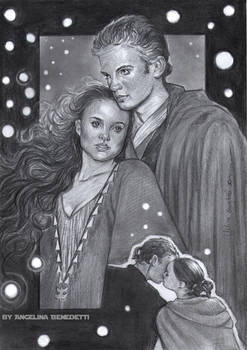 Anakin and Padme Poster Artwork