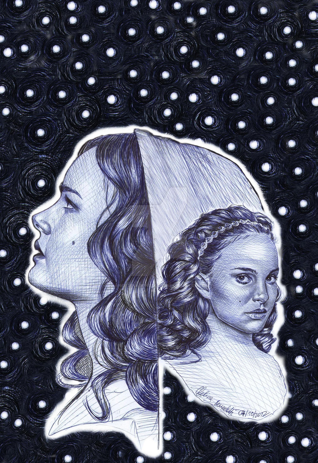 Padme Amidala Ballpoint Pen Poster by AngelinaBenedetti