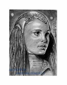 Padme Amidala Sketch Card
