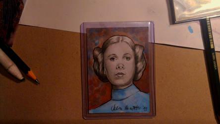 Princess Leia Sketch Card