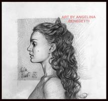 Amidala Graphite Portrait by AngelinaBenedetti